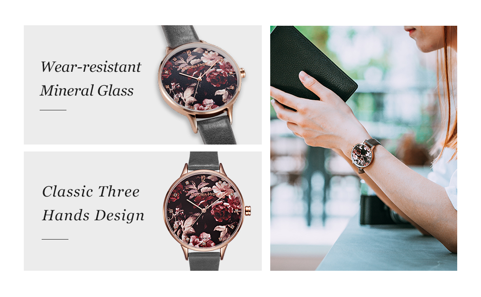 women watches for ladies genuine leather strap wristwatches waterproof victoria hyde