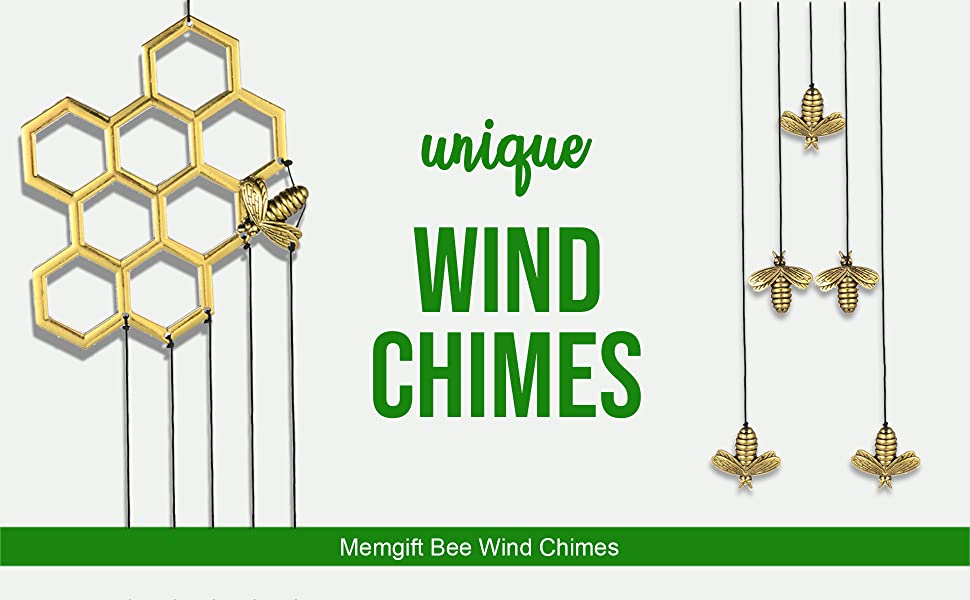 Bee Honeycomb Wind Chimes
