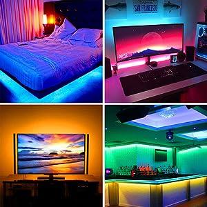 led strip lights bluetooth control music