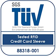 RFID card protector sleeves with TÜV certification. The best Contactless RFID Blocker Card blocker