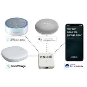 Remootio Smart Home integration Amazon Alexa Google Home Siri Shortcuts Samsung SmartThings