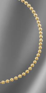 Bracciale a catena con pallina placcato oro