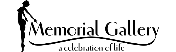 memorial gallery logo a celebration of life with stylized woman