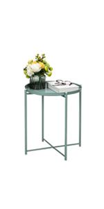 Foldable Metal End Table