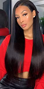 Straight Hair Bundles with Closure/Frontal Human Hair