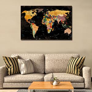 map canvas art
