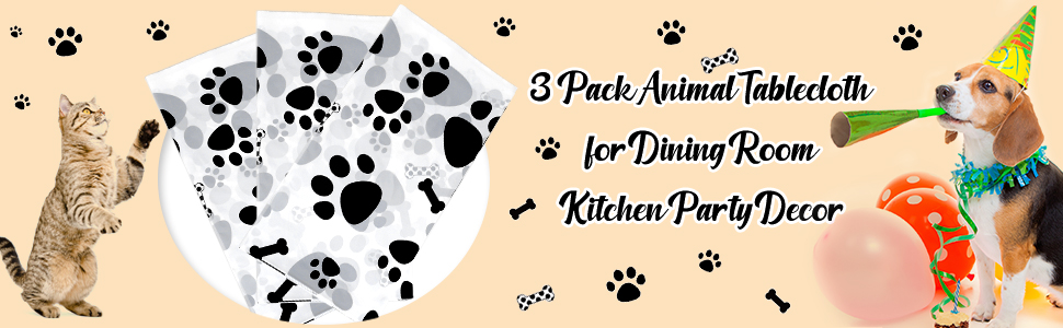 dog themed party supplies