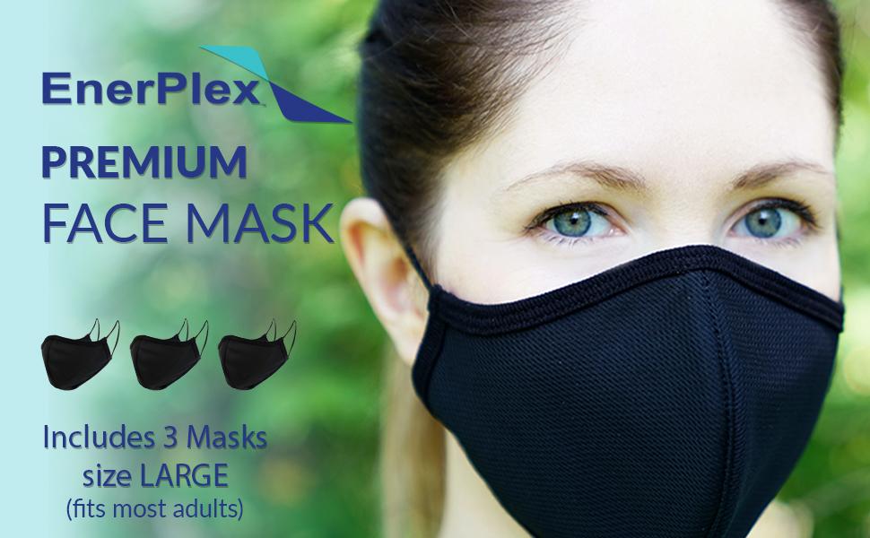 enerplex reusable premium face mask extra large face mask for man large face fabric mask facial hair