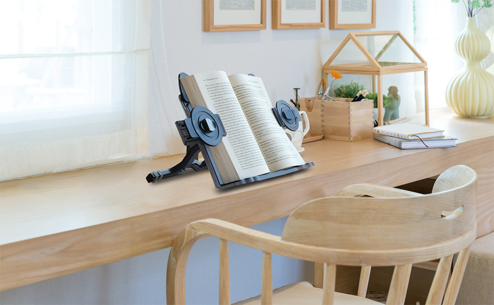 Adjustable Width, Portable Textbooks/Cookbook Holder/Sheet Music Stand/Magazine Stand Holder