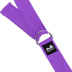 Adjustable Yoga Belt with Metal D-Ring