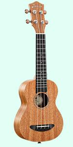 wood concert ukulele