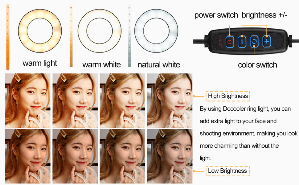 3 light color modes and dimmable brightness