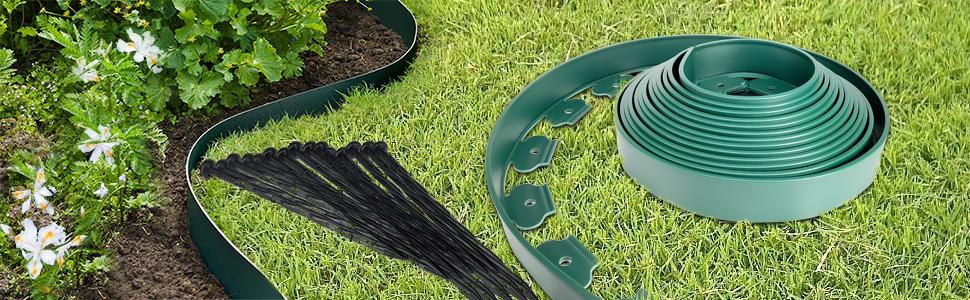 bordure de jardin en plasitique
