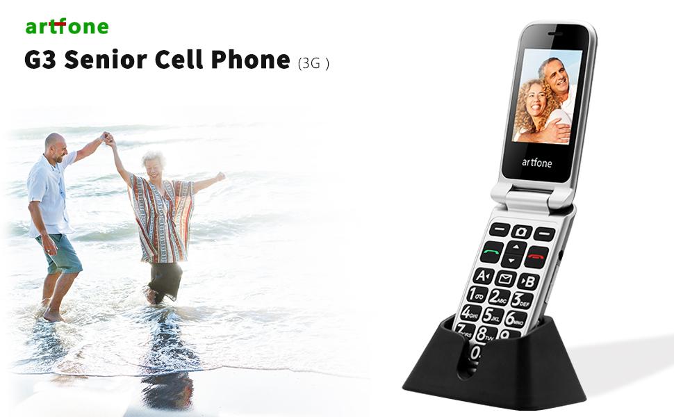 G3 senior flip cell phone