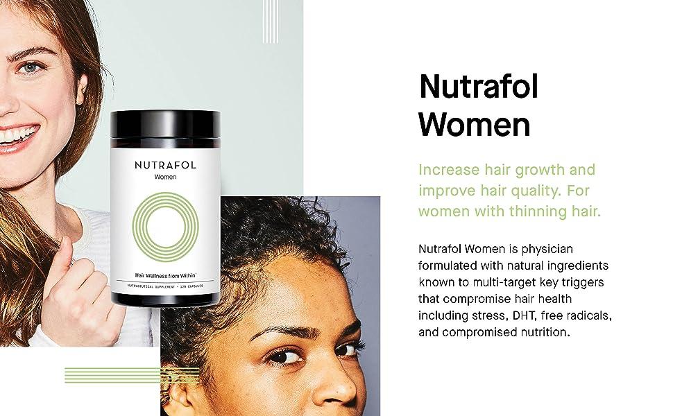 thinning hair loss women health capsules vitamins female baldness biotin marine collagen