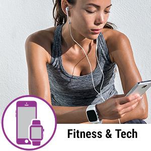 fitness tech technology workout girl jogger