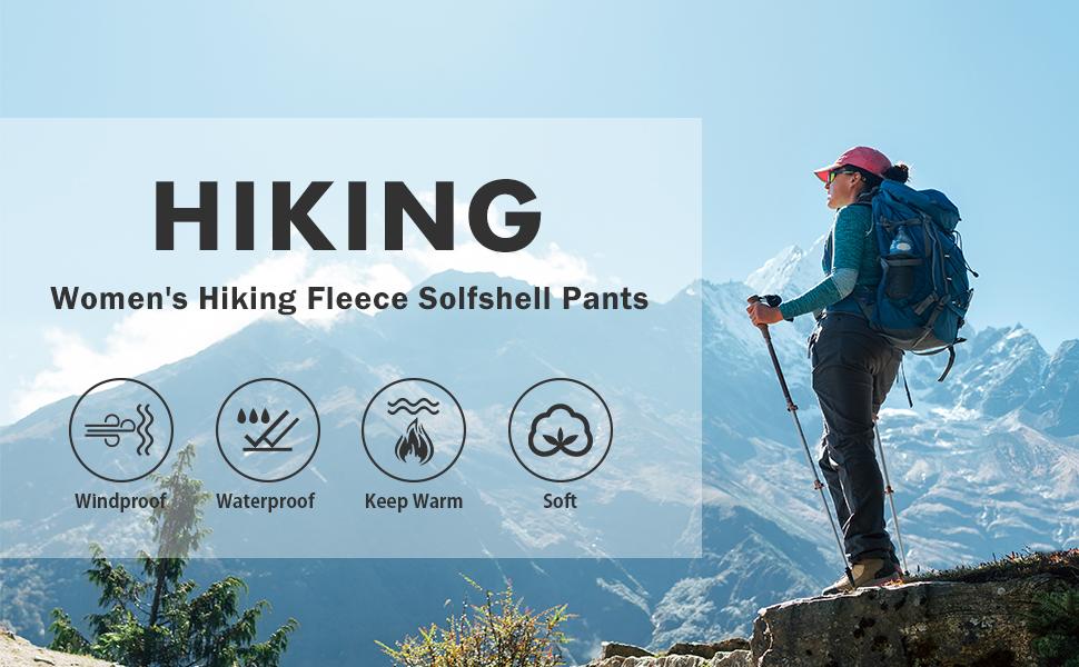 Hiking fleece lined pants