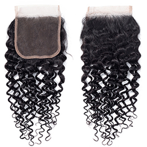 water wave lace closure 4x4 inch