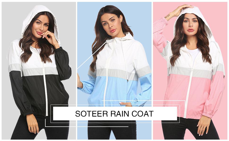 jacket for women windbreakers with hood black raincoat rain jackets for girls