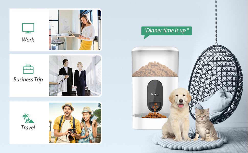 Pet automatic food feeders is a time saver