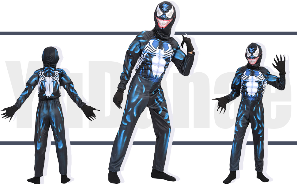 Amazon Com Yudanae Kids Superhero Costume Onesie 3d Spandex Unisex Jumpsuit Bodysuit For Kids Aged 4 9 Clothing