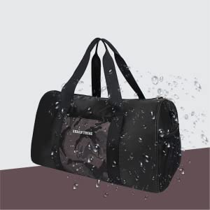 Urban Tribe Fury Gym Bag with Separate Shoe Compartment (Black)