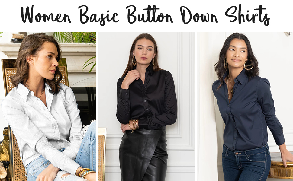 women fashion button up shirt