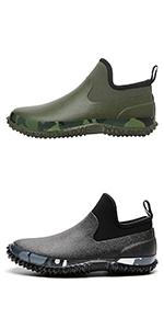 TENGTA Unisex Waterproof Ankle Rain Shoes