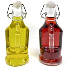 Mason Jar glass oil vinegar cruet set dispenser rustic farmhouse salad dressing gift table kitchen
