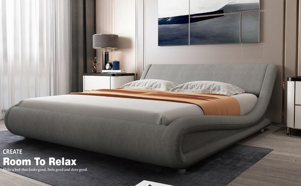 grey bed frame