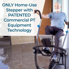 Only home-use stepper with patented commercial PT equipment technology