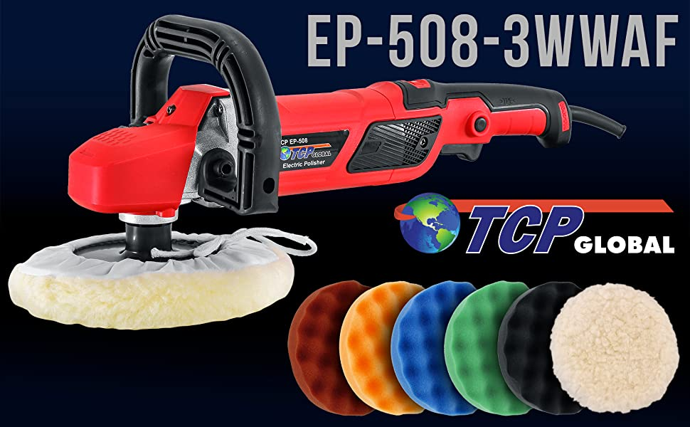 "TCP Global 7"" Professional High Performance Variable Speed Polisher"