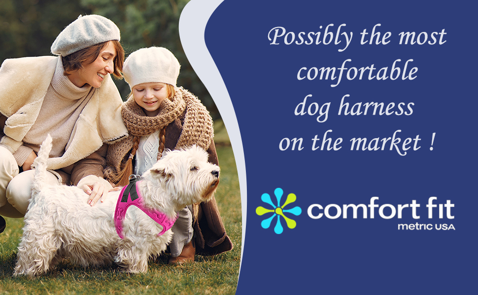 Dog Harness, Light weight Dog Harness/ Comfort Fit Pets Step in No Pull Small and Medium