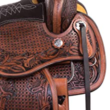 in tree rigging, ranch saddle, trail saddle, western saddle, horse saddle, trail saddle, leather
