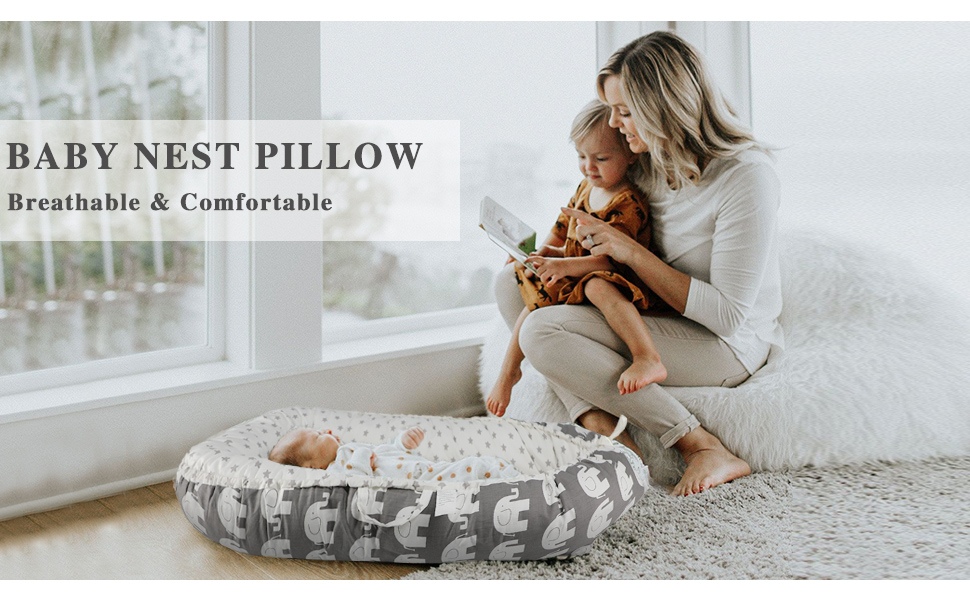 baby lounger baby nest pillow baby nest bed newborn lounger baby snuggle nest baby lounger pillow