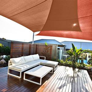 Cool Area Toldo Vela de Sombra Cuadrado 4 x 4 Metros Protección Rayos UV, Resistente y Transpirable para Patio Exteriores Jardín, Color Arena