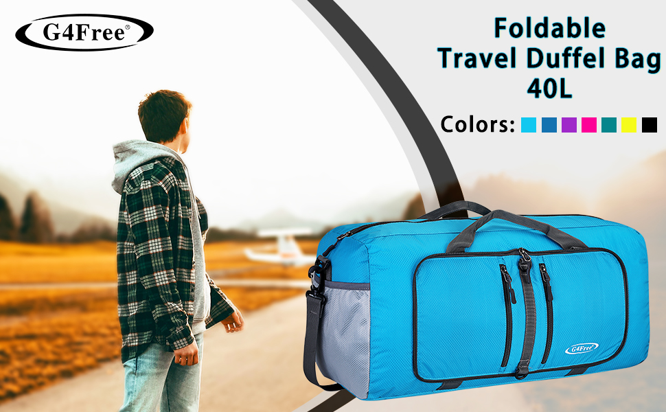 Business Trip Lightweight Collapsible Tote Carry on Luggage for Travel Blue Larger Capacity Travel Foldable Bag Outing