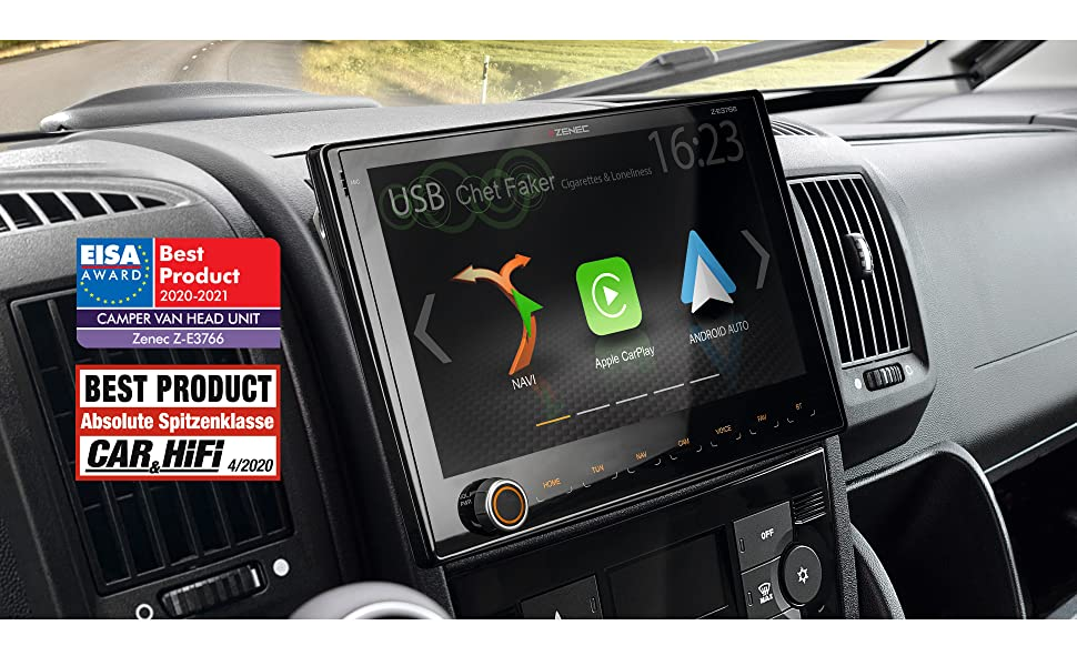 Zenec Z E3766 Infotainer For Fiat Ducato With Android Car Applecarplay 2 Din Media Centre With 9 Inch 22 9 Cm Touchscreen Car Radio With Dab Usb Expandable To Motorhome Navigation Navigation Car