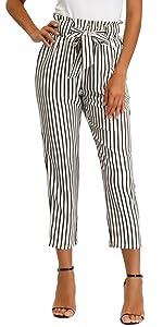 women striped pants