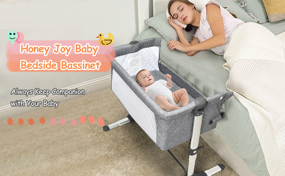 honey joy baby bedside bassinet