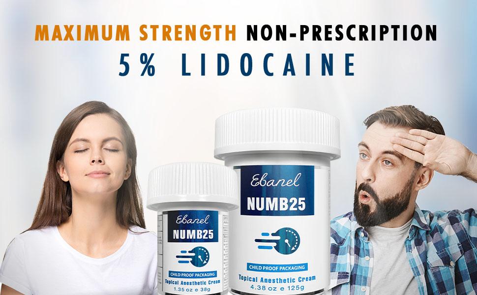 Maximum Strength Non Prescription 5% Lidocaine