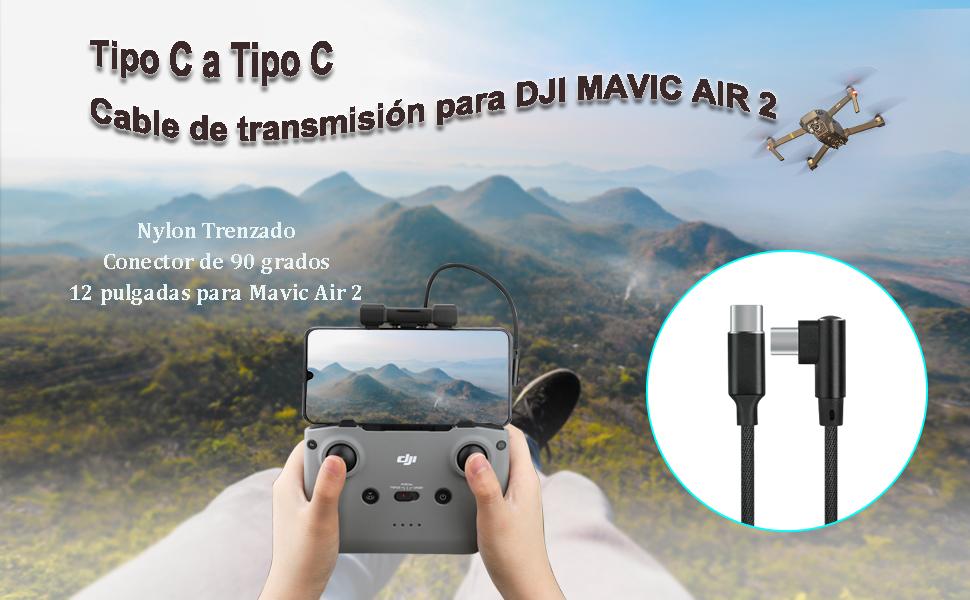 Tipo C a Tipo C Cable de transmisión para DJI MAVIC AIR 2