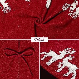 Knitted Reindeer Snowflake