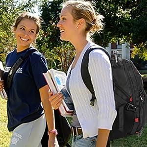 big large backpack with multifunctional pocket for men women busienss office work backpack