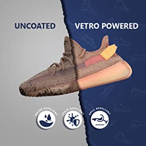 Vetro Power Uncoated vs Coated - Water Stain Spill Repellent