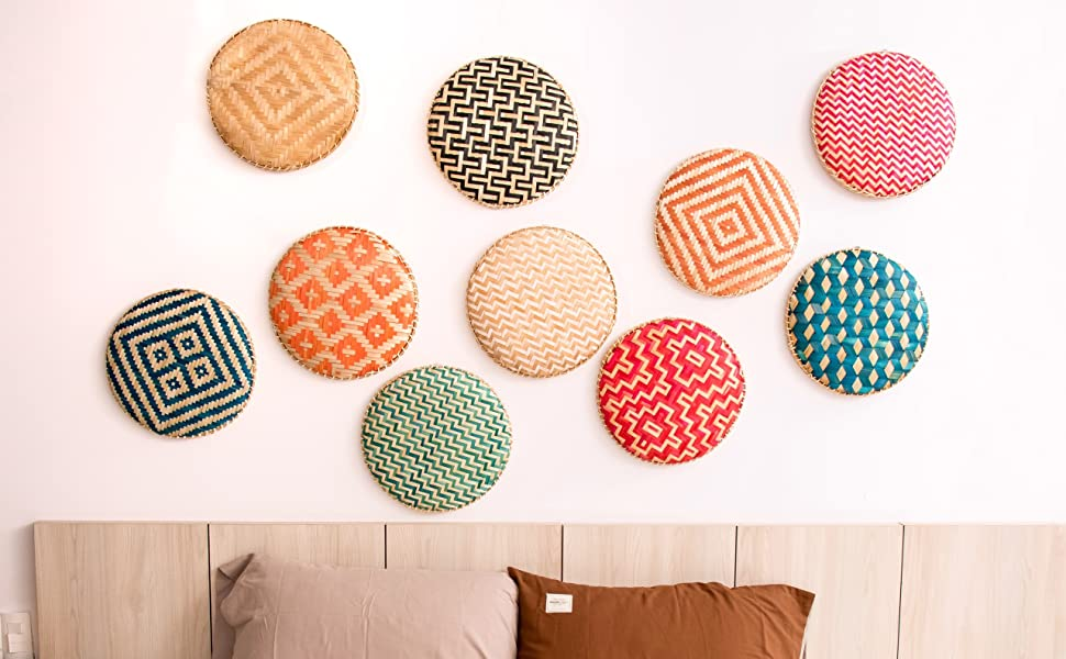 Bamboo Wall Basket Decor