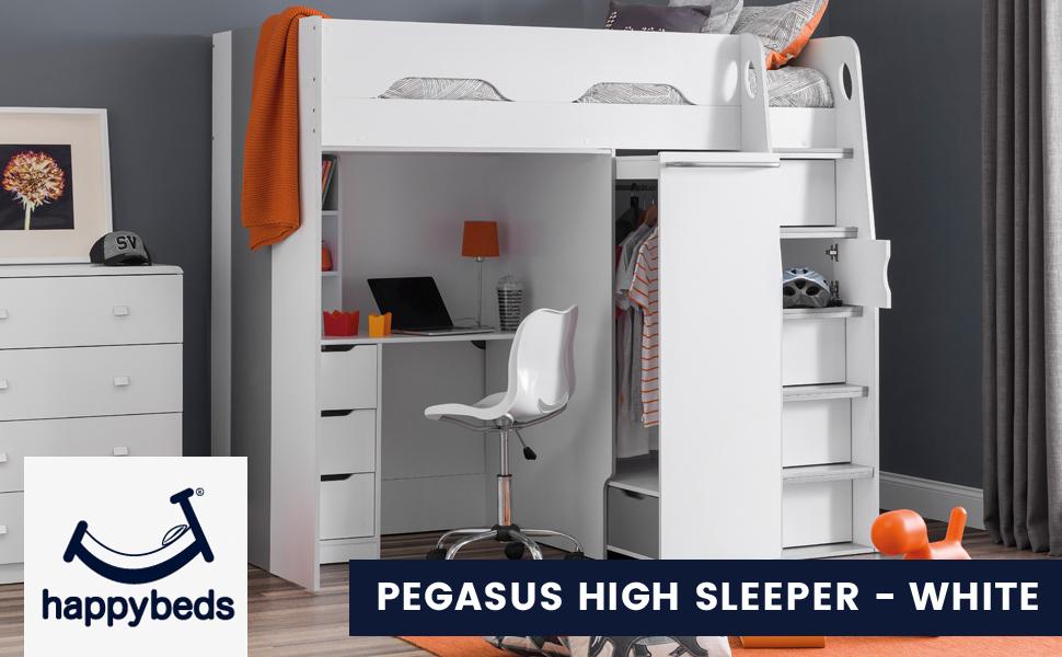 Pegasus Wooden High Sleeper