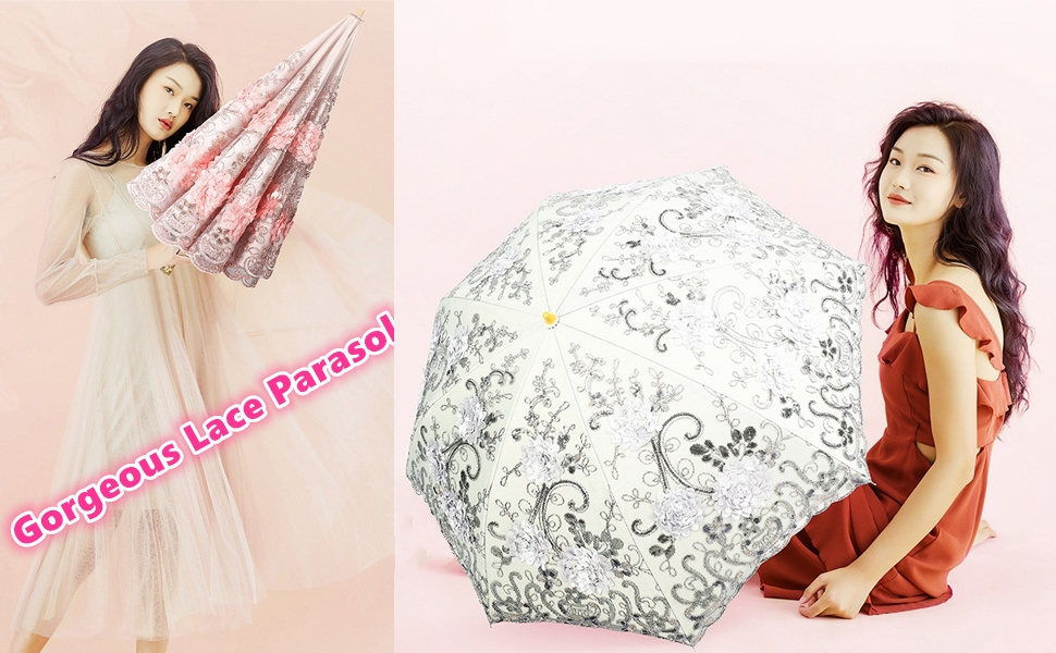 embroidery lace parasol