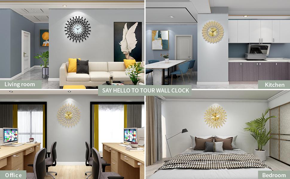 wall clocks for living room decor