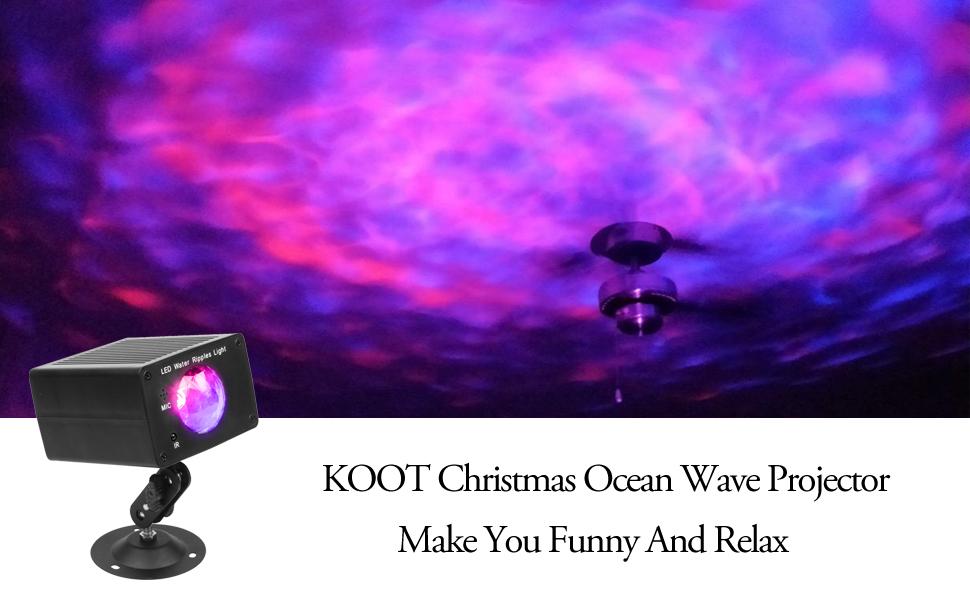 KOOT Christmas Water Wave Light